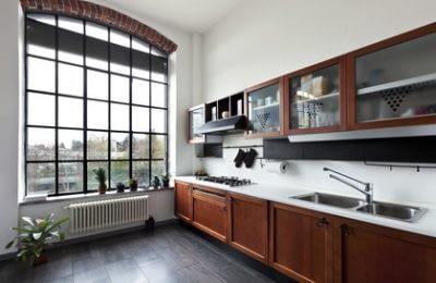 Sprossenfenster in der Küche